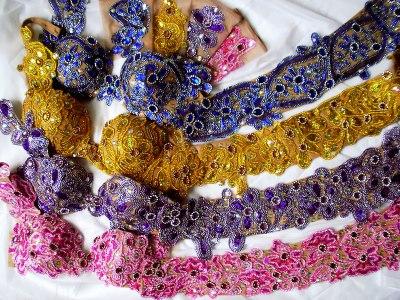 Conjunto para dança do ventre nude e cores