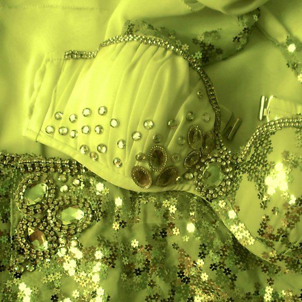 Figurino para dança do ventre amarelo limão